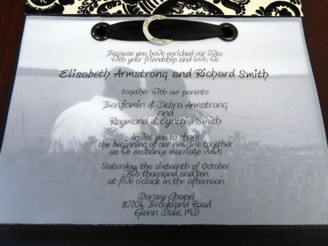 Marble Wedding Invitation With Vellum Overlay