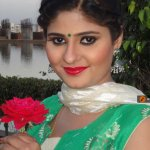 neha shree with rose