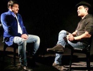Aamir Khan With Manoj Tiwari