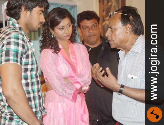 Bhojpuri Film Ghamashan shooting set