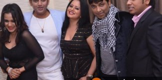 Bhojpuri actor Ravi kishan and Gunjan pant