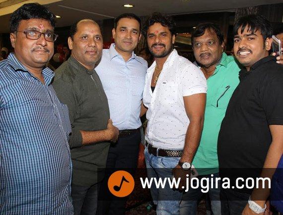 Khesari lal yadav's Bhojpuri film Atankbadi muhurt