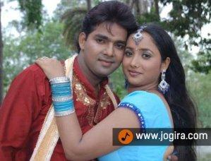 Pawan singh and Rani chatterjee