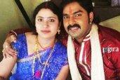 pawan singh with wife