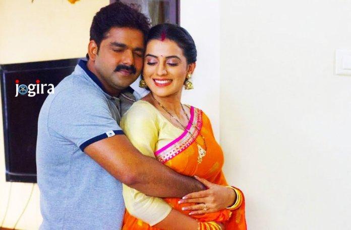 pawan singh and akshara singh in bhojpuri movie dhadkan