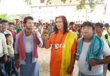 भोजपुरी फिल्म डमरू की शूटिंग