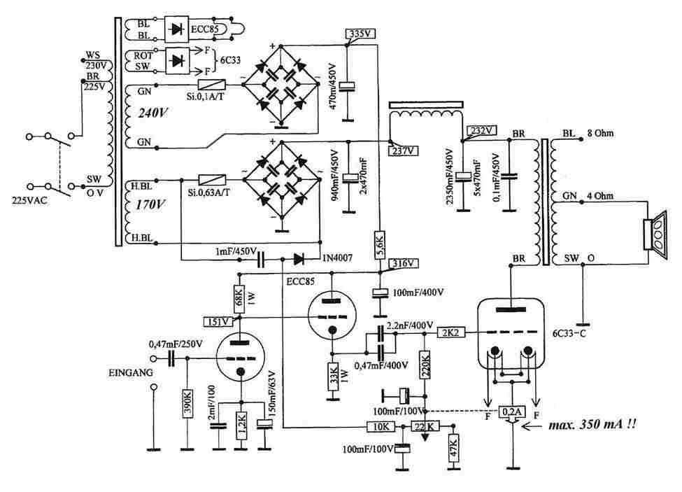 Röhren-Verstärker mit Triode 6C33C-B
