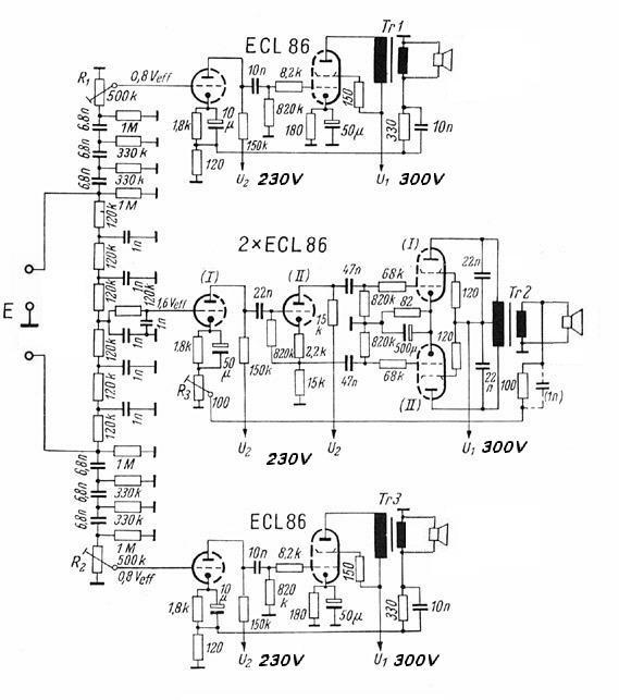 Röhren-Verstärker mit ECL 86