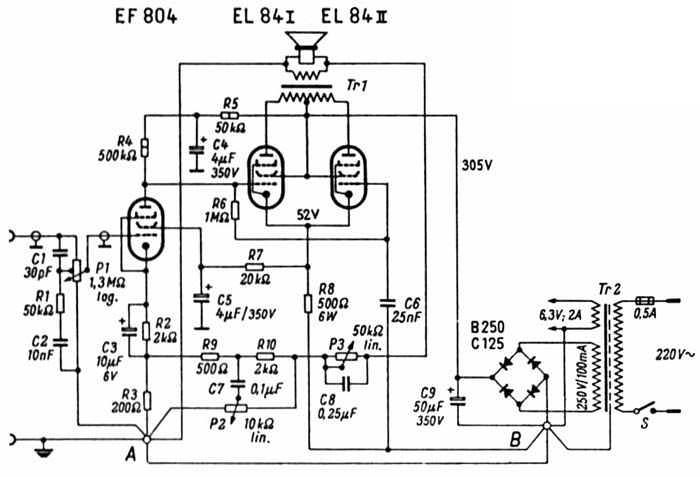 Kleinformatiger 10-Watt-Röhren-Verstärker