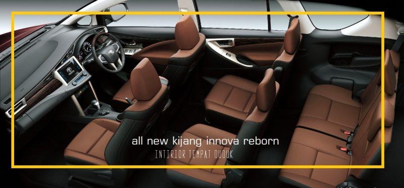 All New Innova Reborn - Intirior Tempat Duduk
