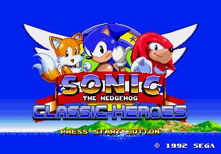Sonic Classic Heroes – Rise of the Chaotix – Sega Genesis (Mega Drive)