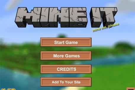 Jogar Minecraft 2D Mine It Gratis Online