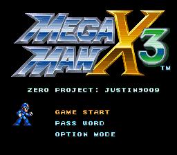 Mega Man X3 – Zero Project (Ver. 1.0)