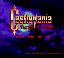Castlevania: Rondo of Blood TurboGrafx-CD