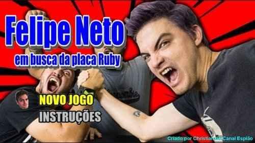 Felipe Neto em busca da placa ruby