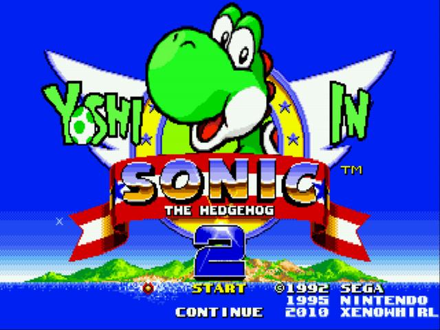 Yoshi in Sonic The Hedgehog 2