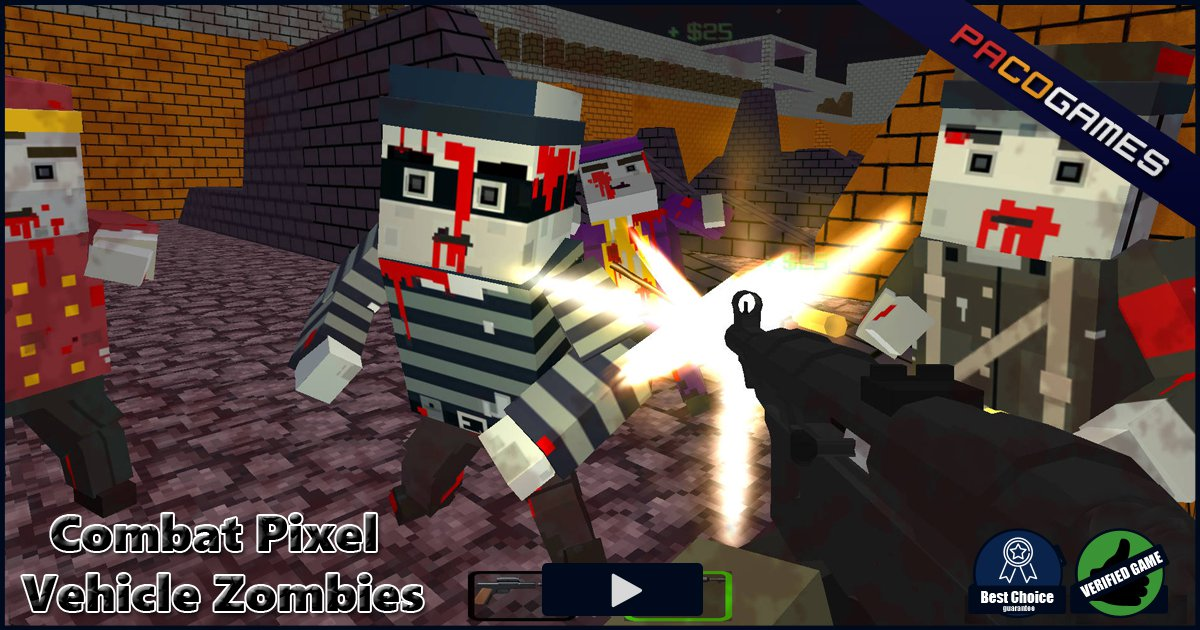 Jogar Blocky Combat Swat – Killing Zombie Gratis Online