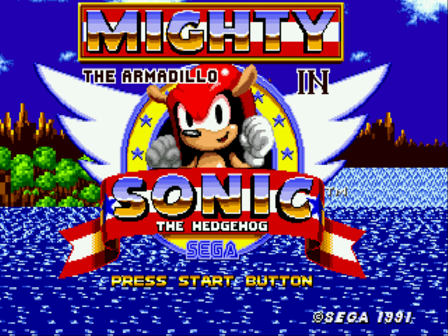 Mighty the Armadillo in Sonic 1 (Knuckles Chaotix Sprites)