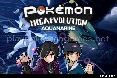 Pokemon Mega Evolution Aquamarine (GBA)