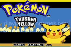 Pokemon Thunder Yellow (GBA)