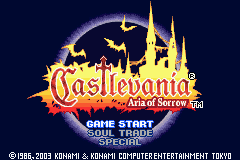 Castlevania – Aria of Sorrow GBA