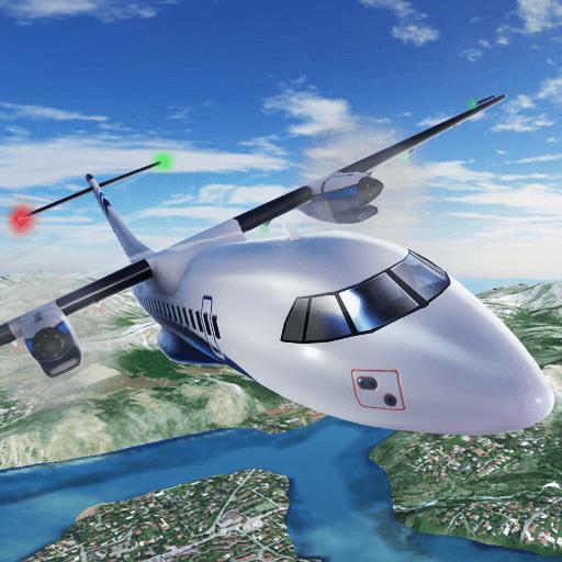 Simulador piloto de voo de avião