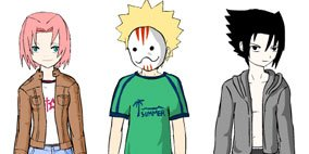 Naruto Team 7 Dress Up