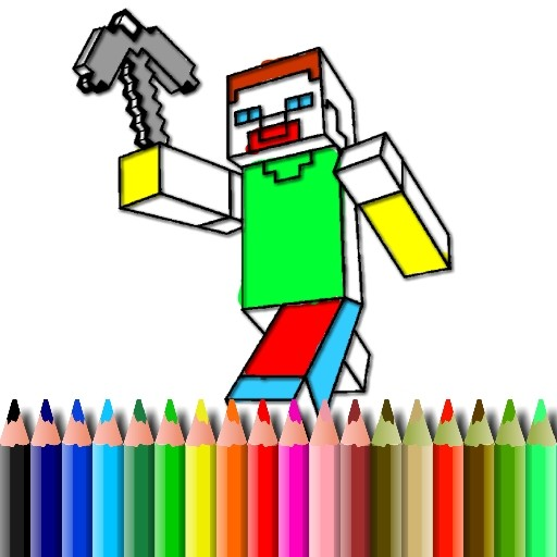 BTS Minecraft Coloring