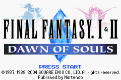 Final Fantasy I & II: Dawn of Souls – Mod of Balance (3.0)