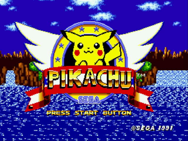 Pikachu in Sonic 1 (Beta)