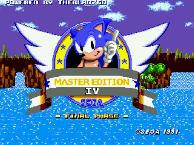 Sonic 1 – Master Edition IV (Final Phase)