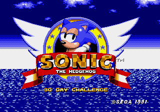Sonic 30 Day Challenge