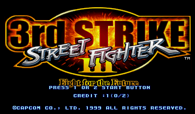 Street Fighter III 3rd Strike: Fight for the Future (USA 990608)