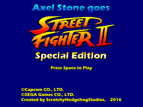 Axel Stone goes Street Fighter II