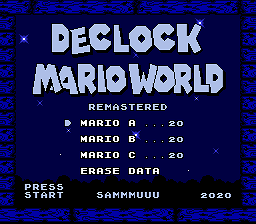 DeClock Mario World Remastered