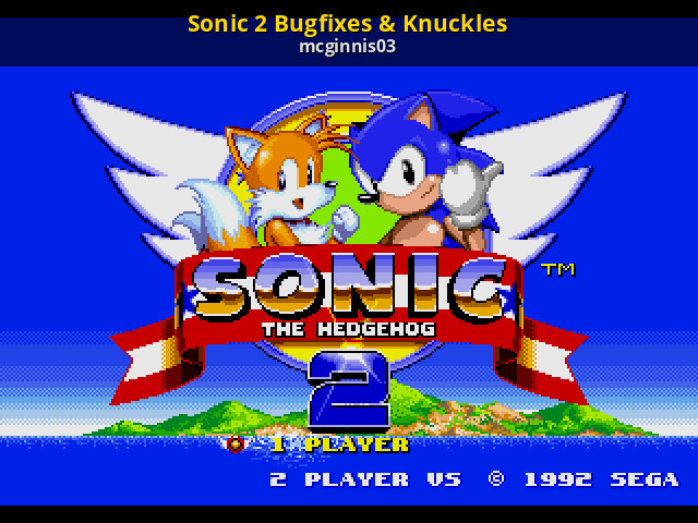 Sonic 2 Bugfixes & Knuckles v3