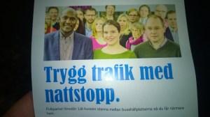 Flygblad från valrörelsen 2014.