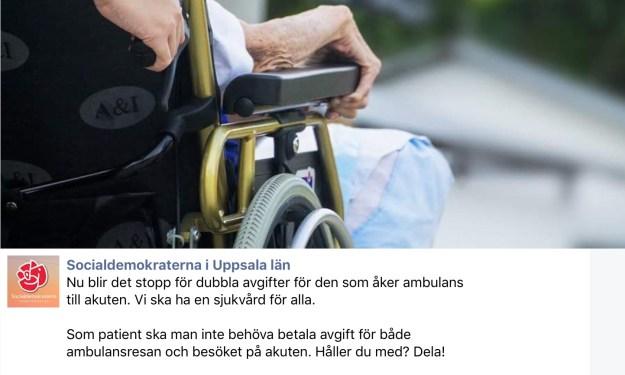 Bilden som socialdemokraterna spred på Facebook.