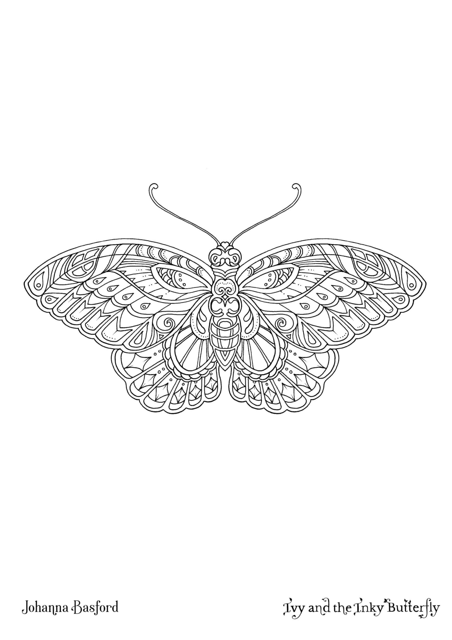 Ivy and the Inky Butterfly : Download and Colouring