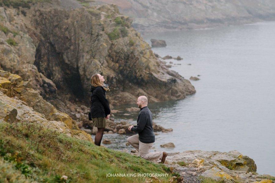 Misty Proposal on Dublin Cliffs Ireland