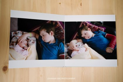 Photo Album from maternity and newborn session