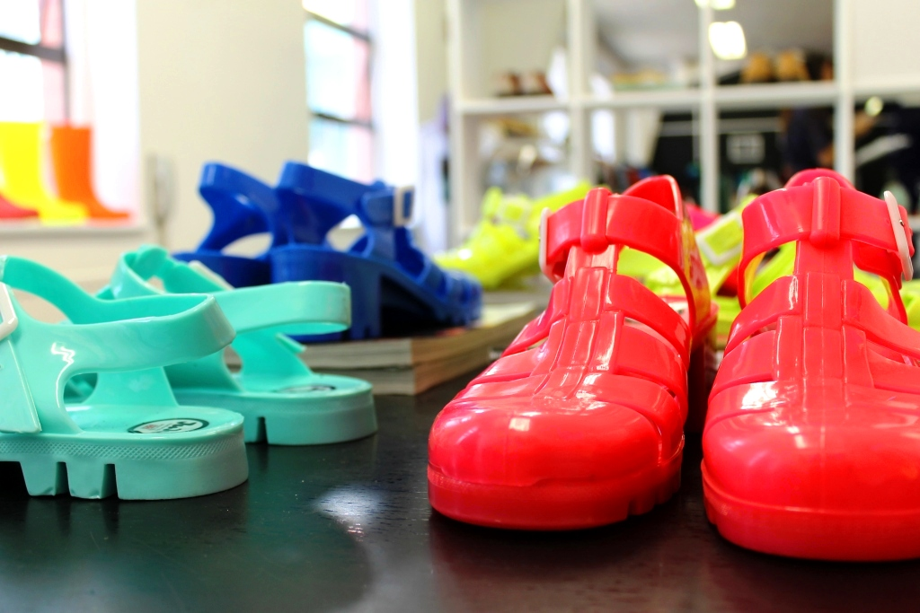 Neon JuJu jelly shoes SS13