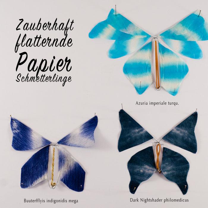 Flatternde Schmetterlinge aus Papier