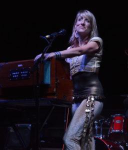 Johanna flamingo on stage