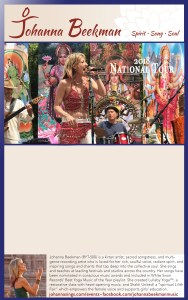 Johanna National Tour poster template