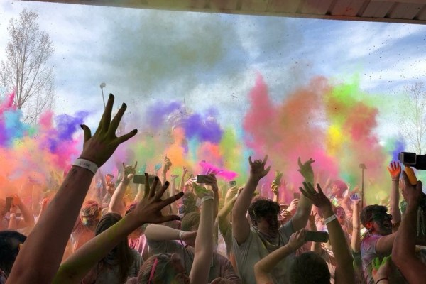 Fest of colors explosion