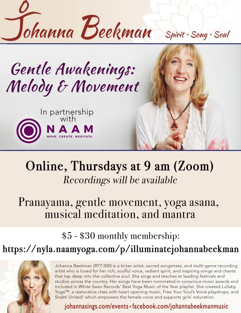 2020 Johanna Poster Naam Yoga Melody and Movement