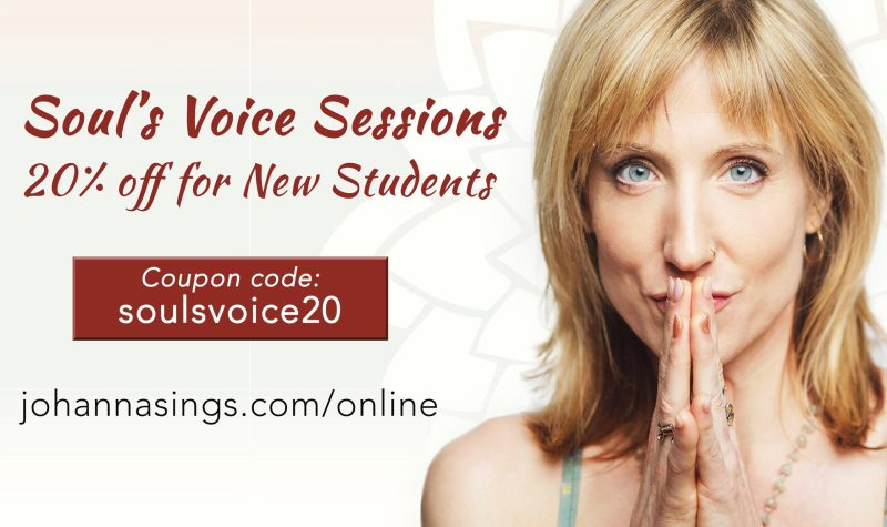 Souls Voice Lessons Sale SLIDER