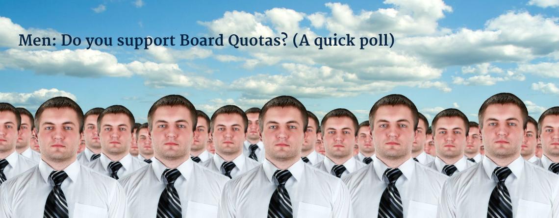 board quotas poll men