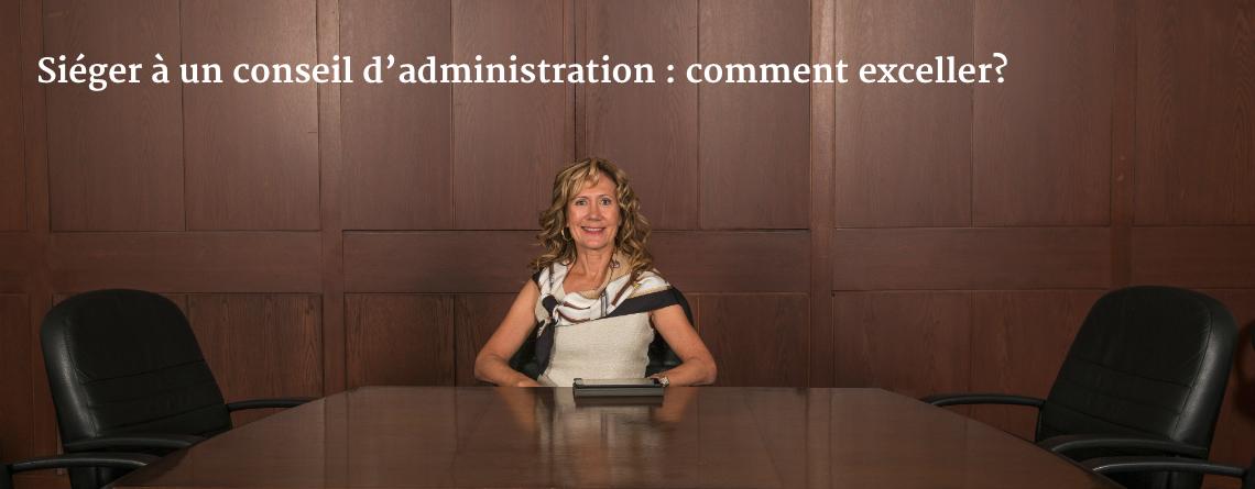 Siéger à un conseil d'administration : comment exceller?